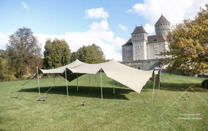 Location de tente nomade - configuration en chapiteau